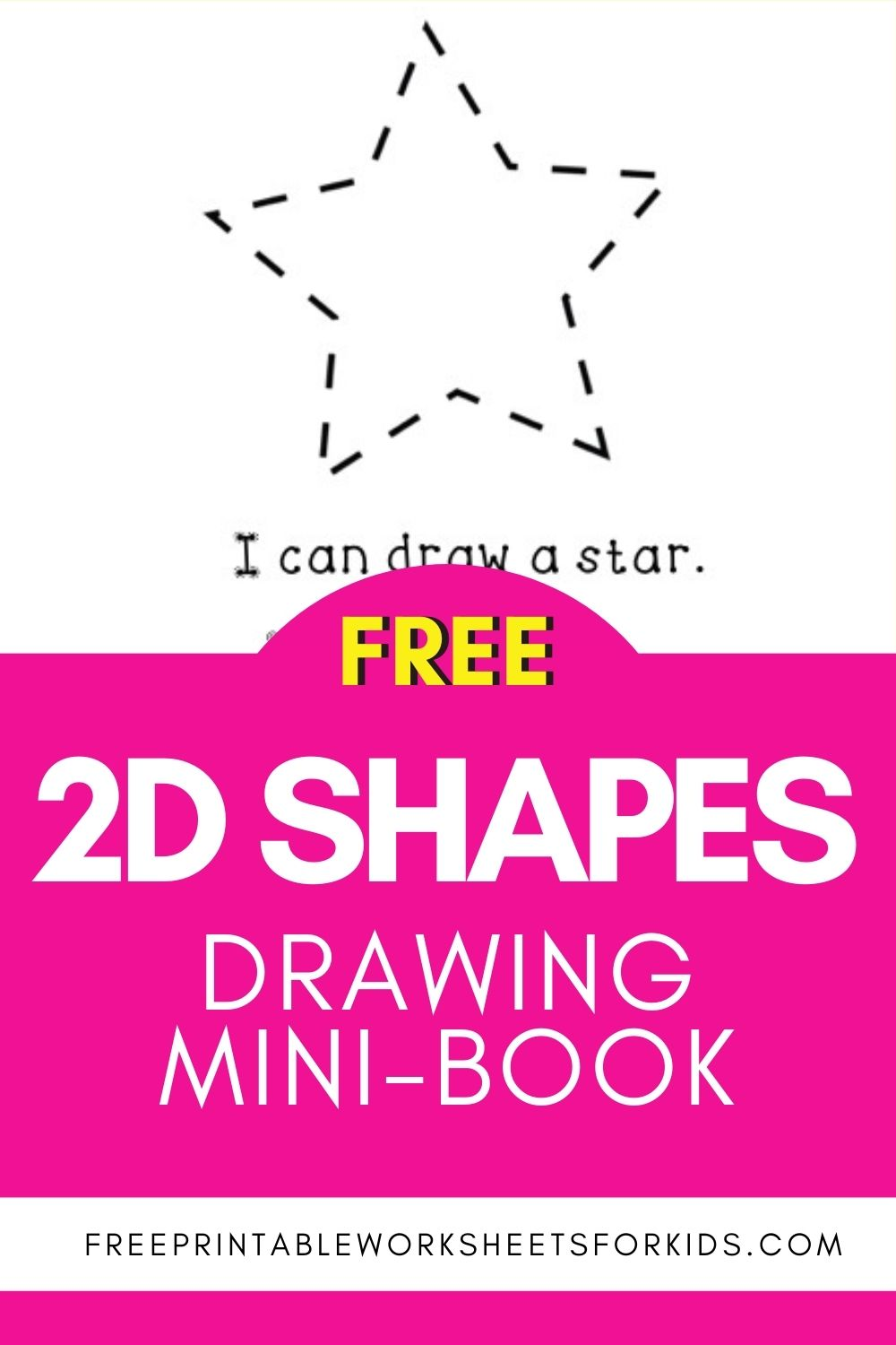 drawing 2d shapes mini book to practice tracing shapes