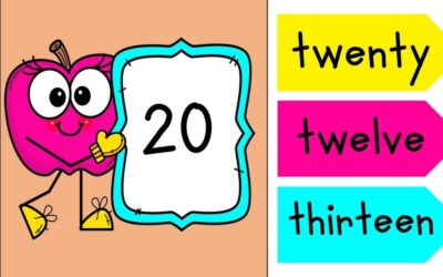 Adorable Apple Number Words to 20 Game