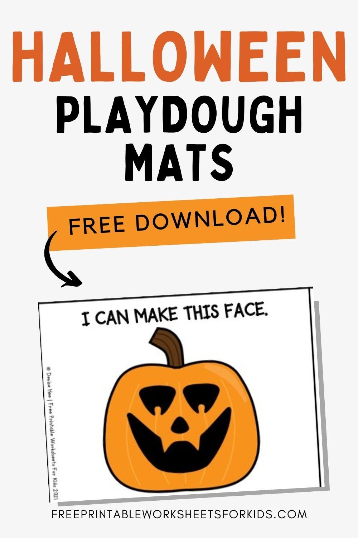 Halloween Playdough Mats