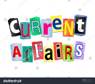 stock photo illustration depicting cutout printed letters arranged to form the words current affairs 132231167 2B 25281 2529