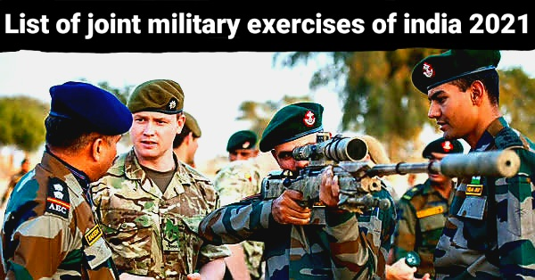 List of joint military exercises of india 2021