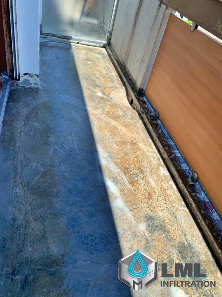 Système étanchéité liquide balcon