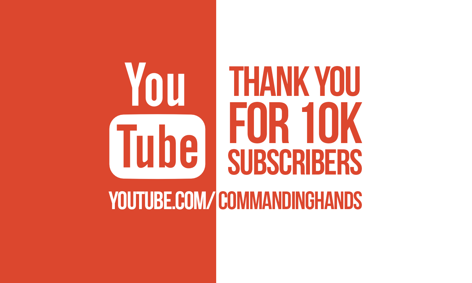 Thank you for 10k YouTube subscribers!