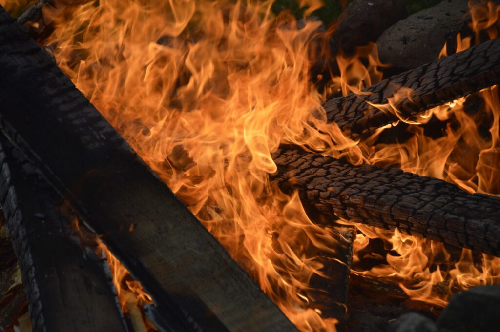 Wood burner air pollution