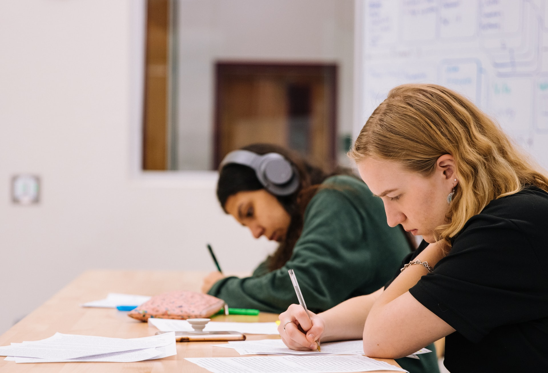 students at their gcse tuition class in slough
