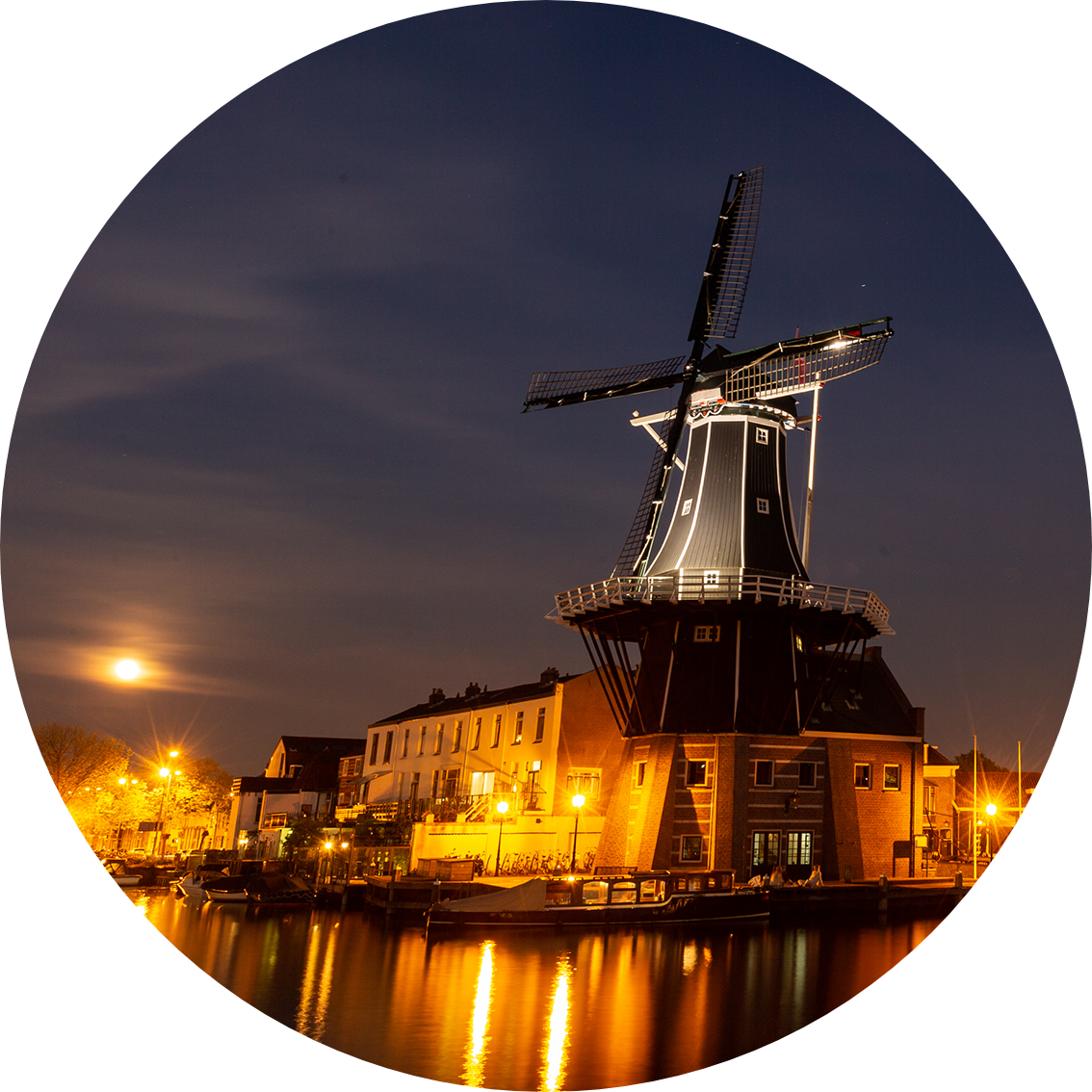 Molen De Adriaan (Adriaan Windmill) in Haarlem, the Netherlands