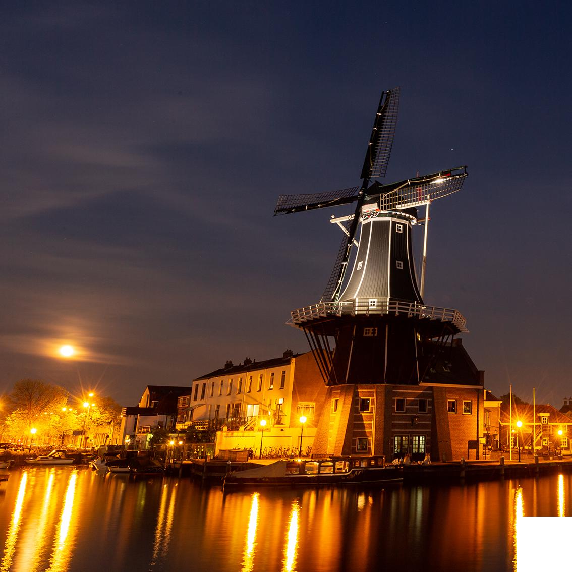 Molen De Adriaan (Adriaan Windmill) in Haarlem, the Netherlands