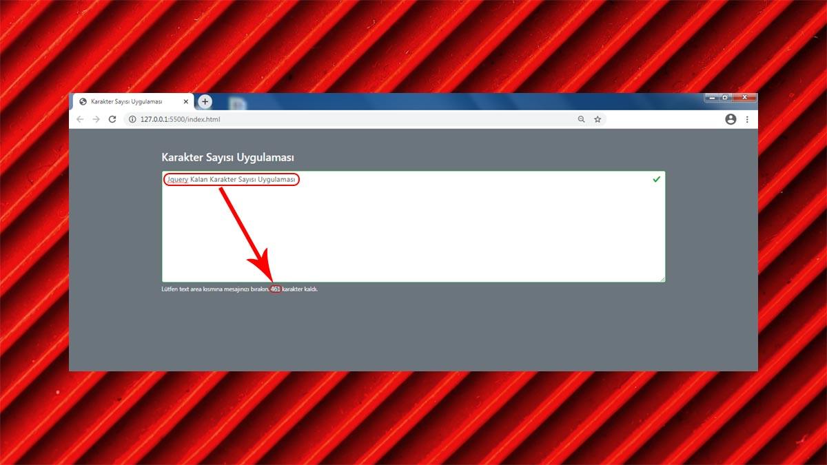 Jquery Kalan Kaarkter Sayısı Uygulaması - Öne Çıkan Görsel