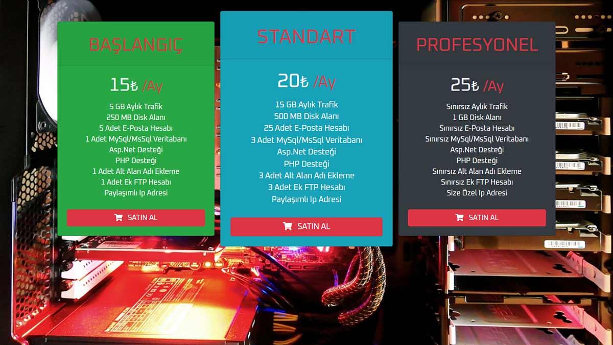 Bootstrap 4 İle Fiyat Tablosu Tasarımı - Featured Resim