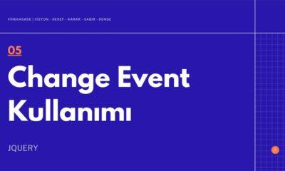 Jquery Change Event Kullanımı - Öne Çıkan Görsel