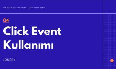 Jquery Click Event Kullanımı - Öne Çıkan Görsel