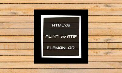 htmlde alıntı ve atıf elemanları
