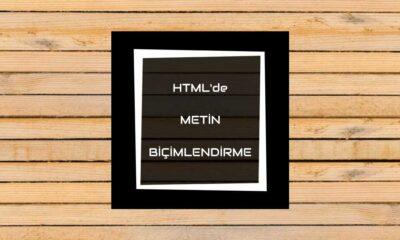 htmlde metin biçimlendirme
