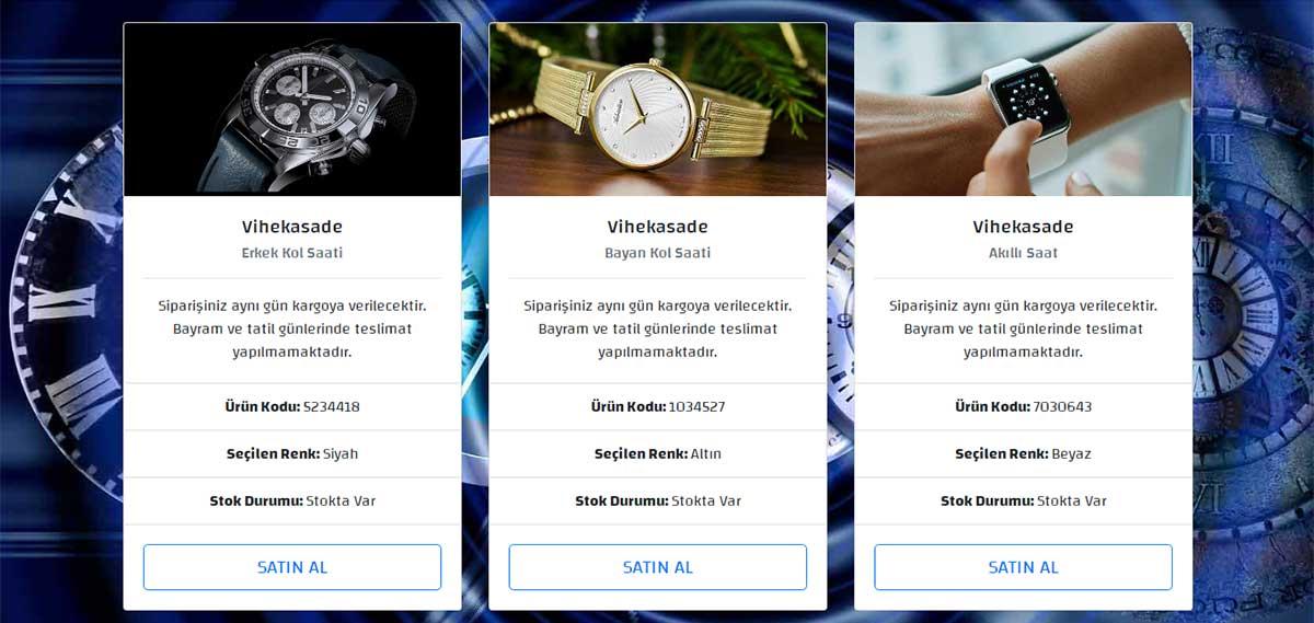 saat e-ticaret sitesi - resim yaklaştırma efekti - öne çıkan görsel
