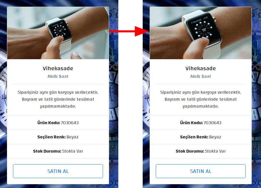 akıllı saat - overflow-hidden özelliği eklenmiş efekti