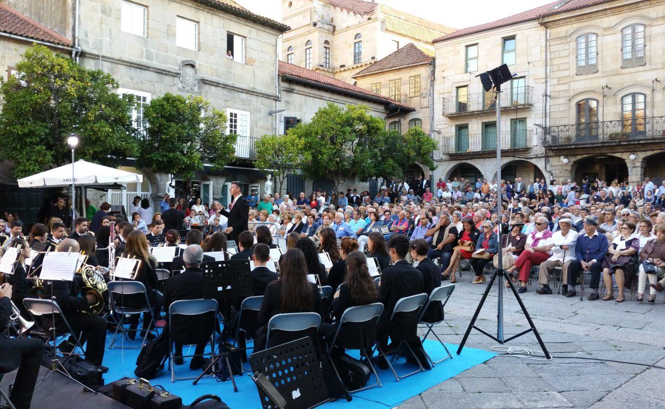 Praza Teucro en Pontevedra 09.07.2017