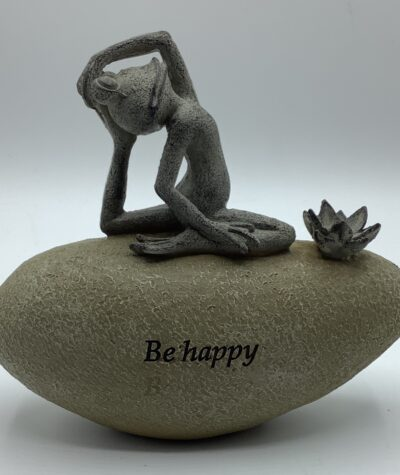 Country Living Yoga Frog on a Stone - Be Happy Ornament