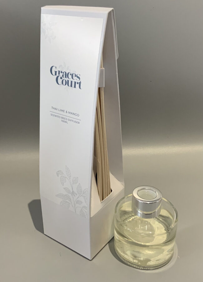 Graces Court Scented Reed Diffuser Thai Lime & Mango 100ml