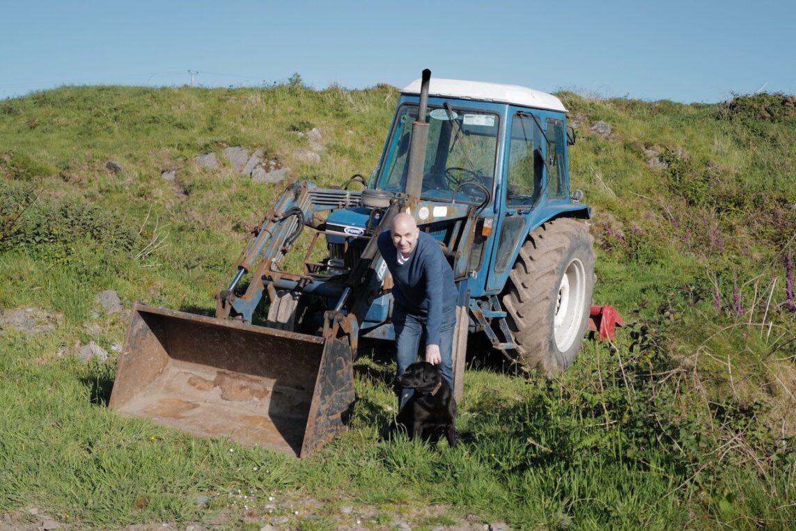 Jonathan Self with Tractor