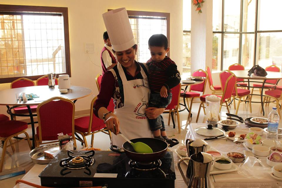 Salma Cooking with her Son
