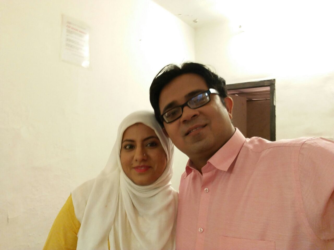 Salma with her husband