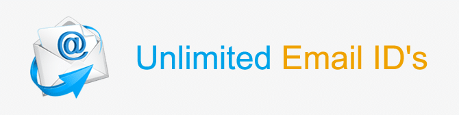 Unlimited email id's