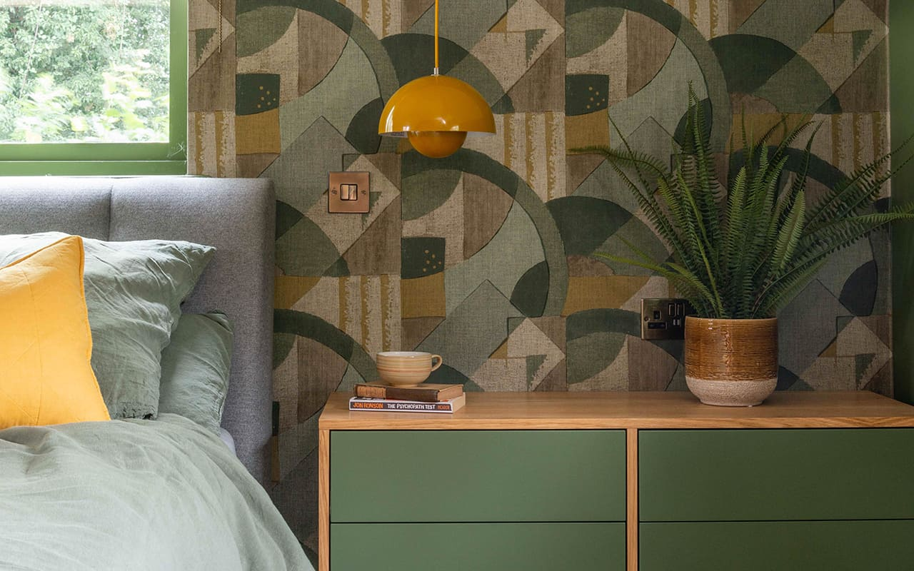 Green and Gold Bedroom