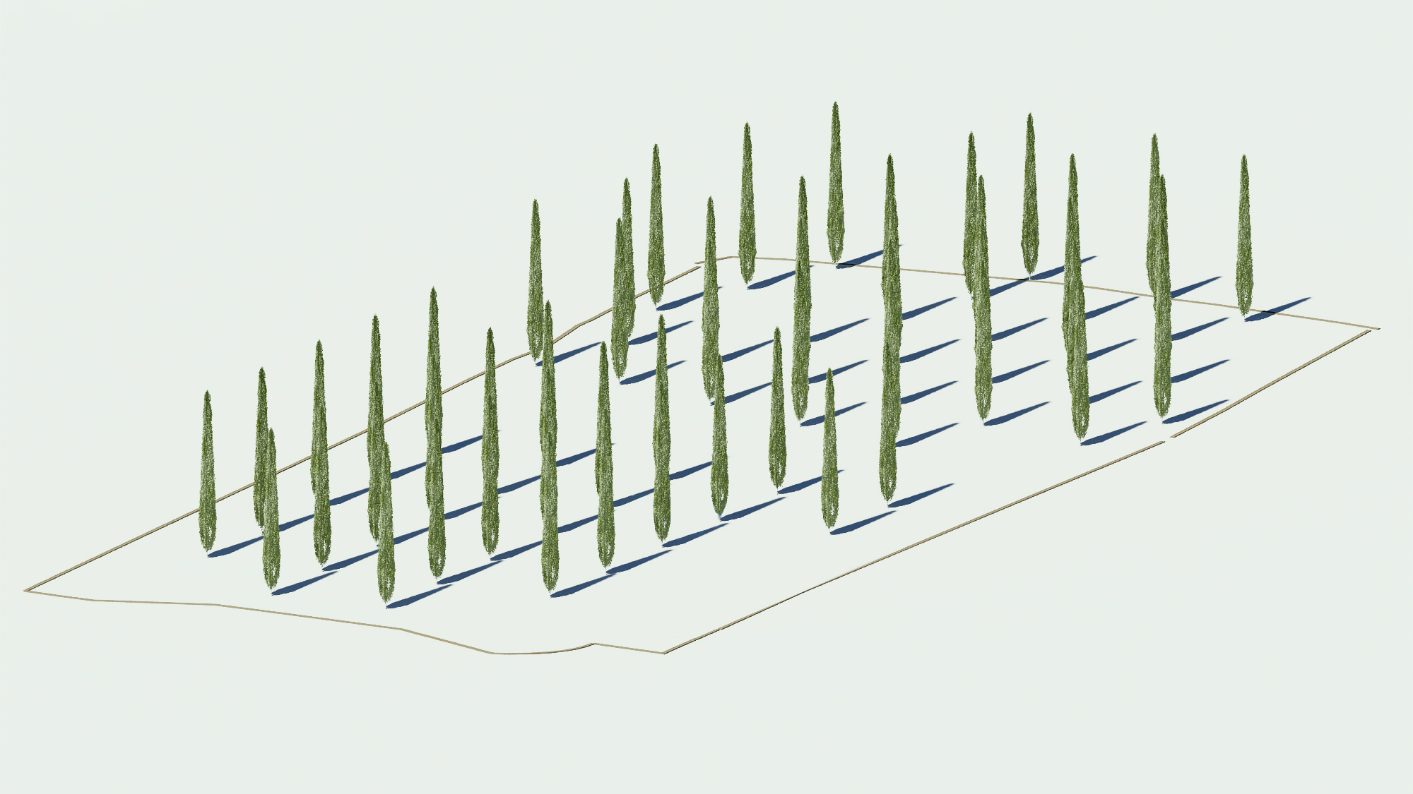 Tree Grid. The Cambridge Mosque by Marks Barfield Architects