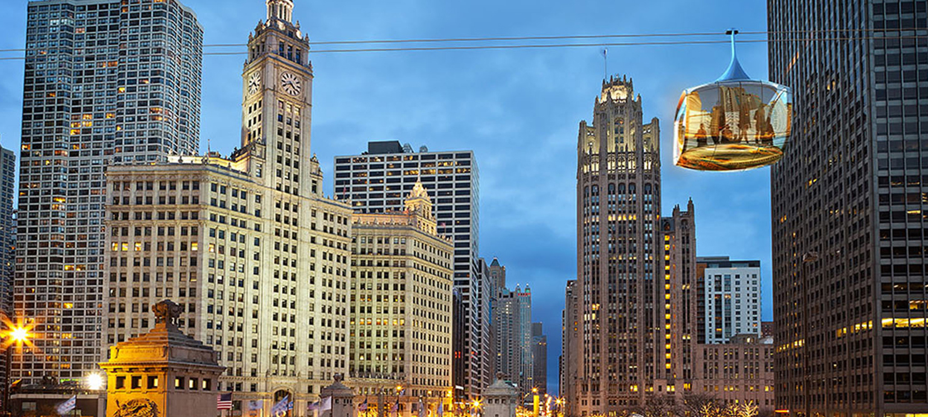 Chicago Skyline by Marks Barfield Architects