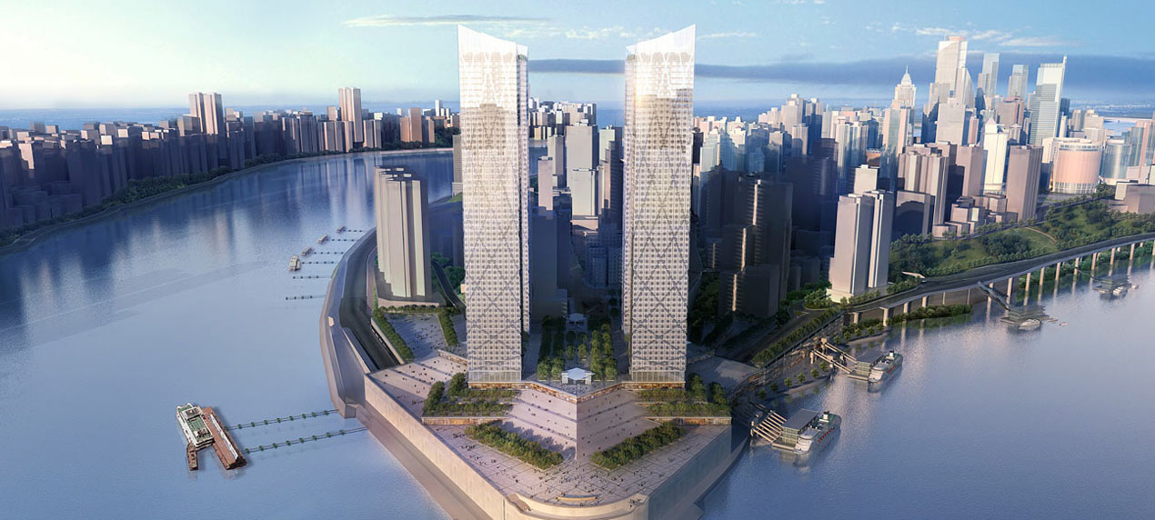 Chaotianmen Square, Chongqing by Marks Barfield Architects