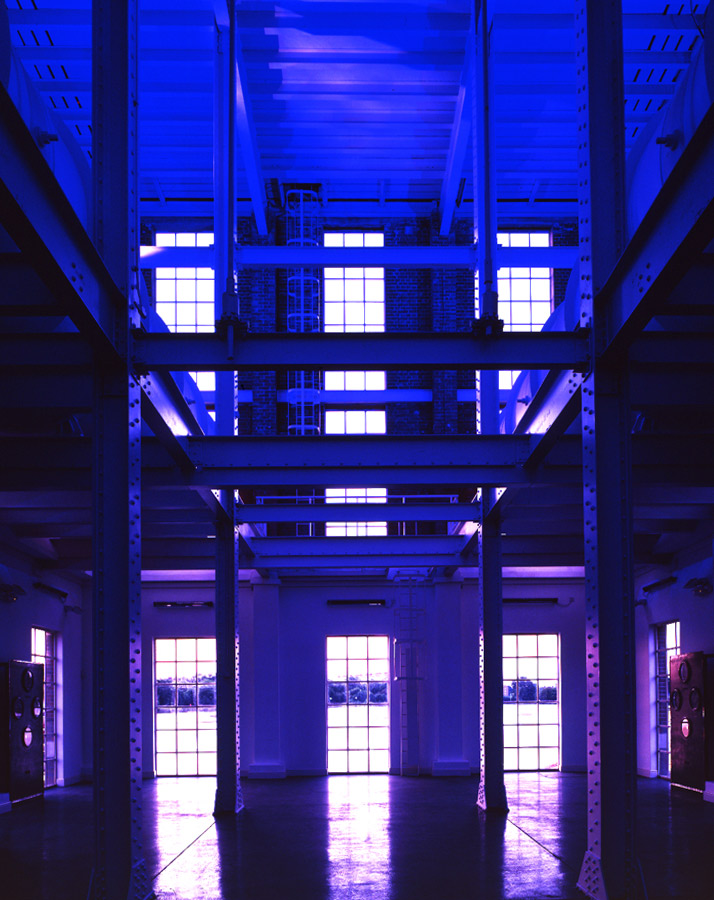 internal night view - Stoke Newington Watersports Centre by Marks Barfield Architects