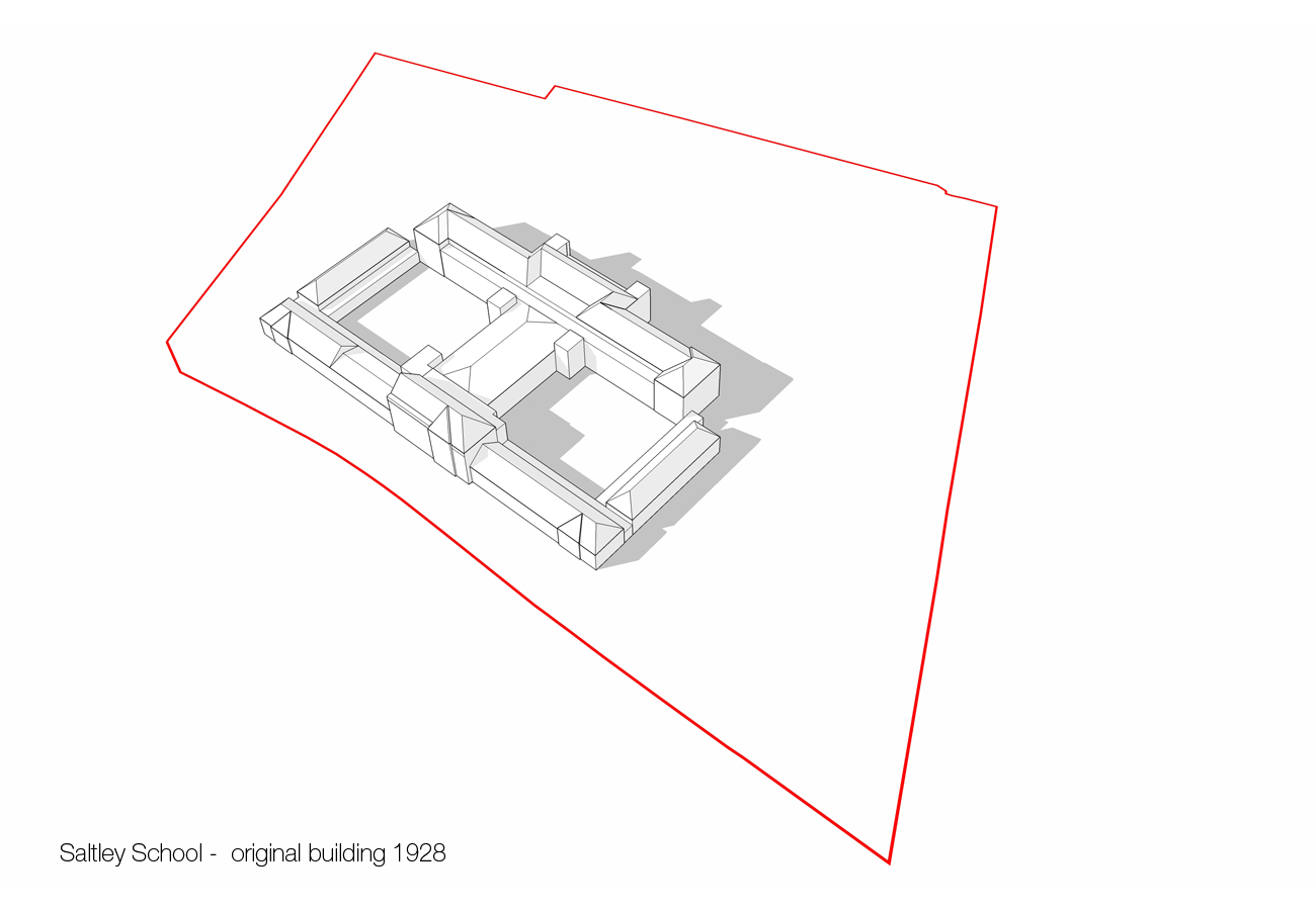 original building - Saltley Secondary School by marks Barfield Architects
