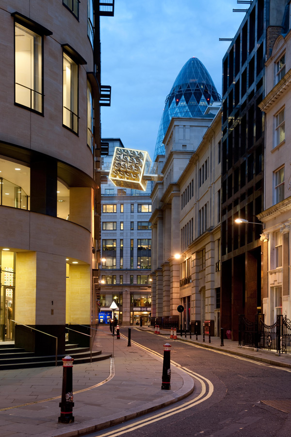 night street view - Link Bridge by Marks Barfield Architects