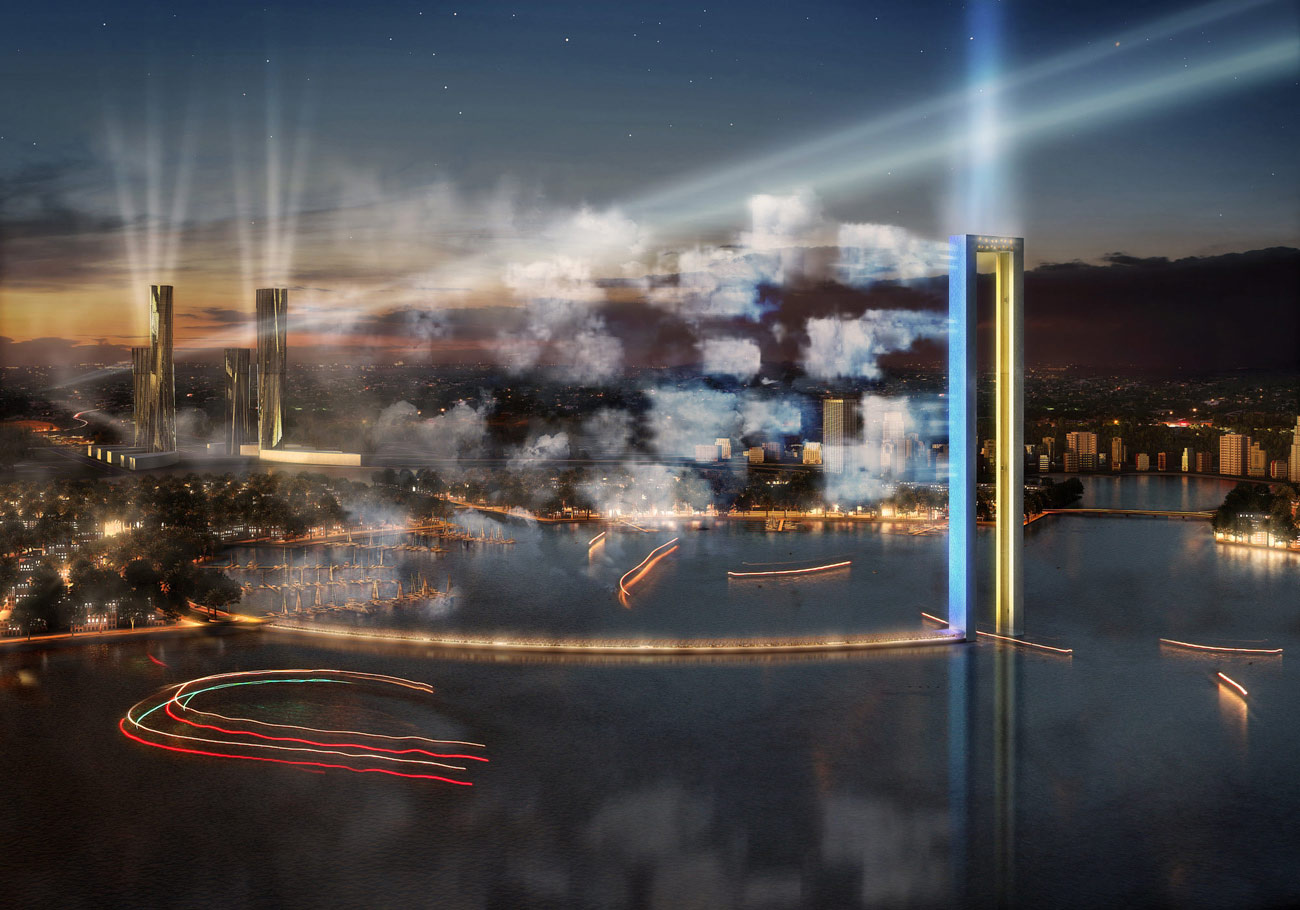 Lusail Iconic Structure - Cumulus by Marks Barfield Architects