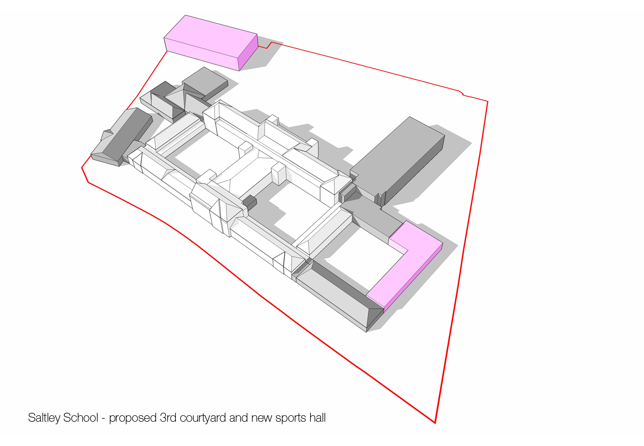 courtyard extension - Saltley Secondary School by marks Barfield Architects
