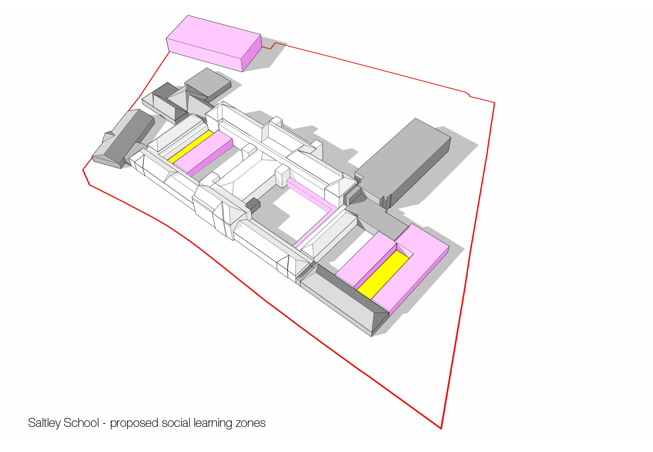 social learning zones - Saltley Secondary School by marks Barfield Architects