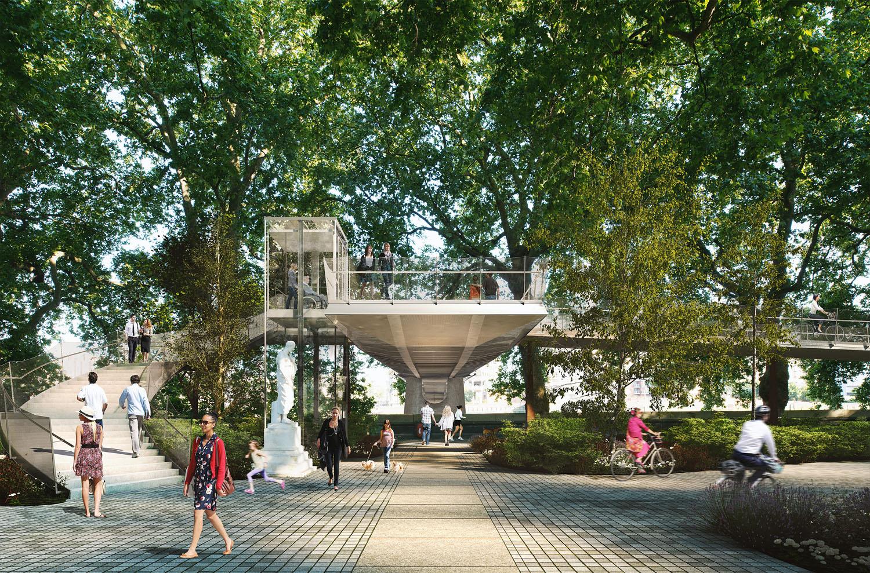 Nine Elms to Pimlico Bridge by Marks Barfield Architects