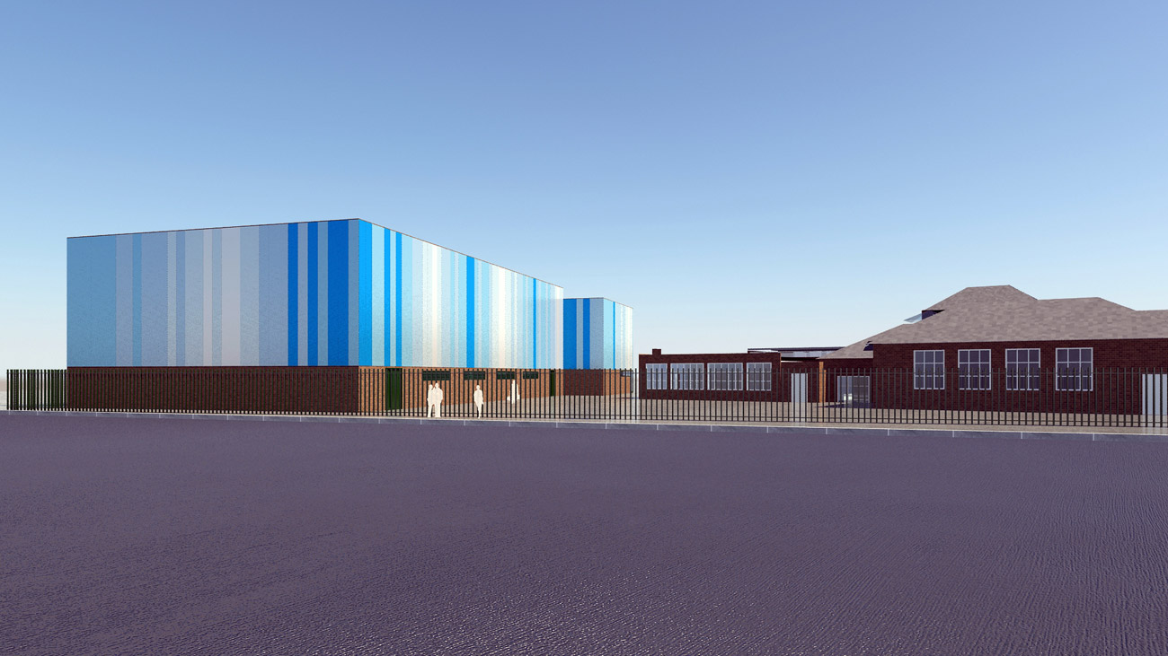 cladding study - Saltley Secondary School by marks Barfield Architects