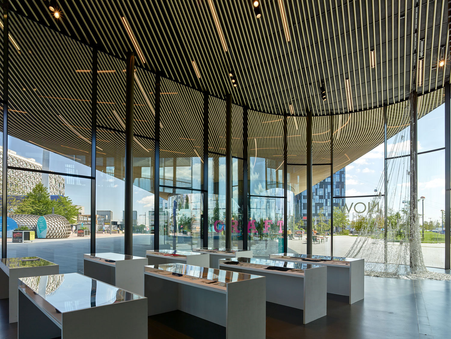 now gallery interior - Greenwich Gateway Pavilions by Marks Barfield Architects