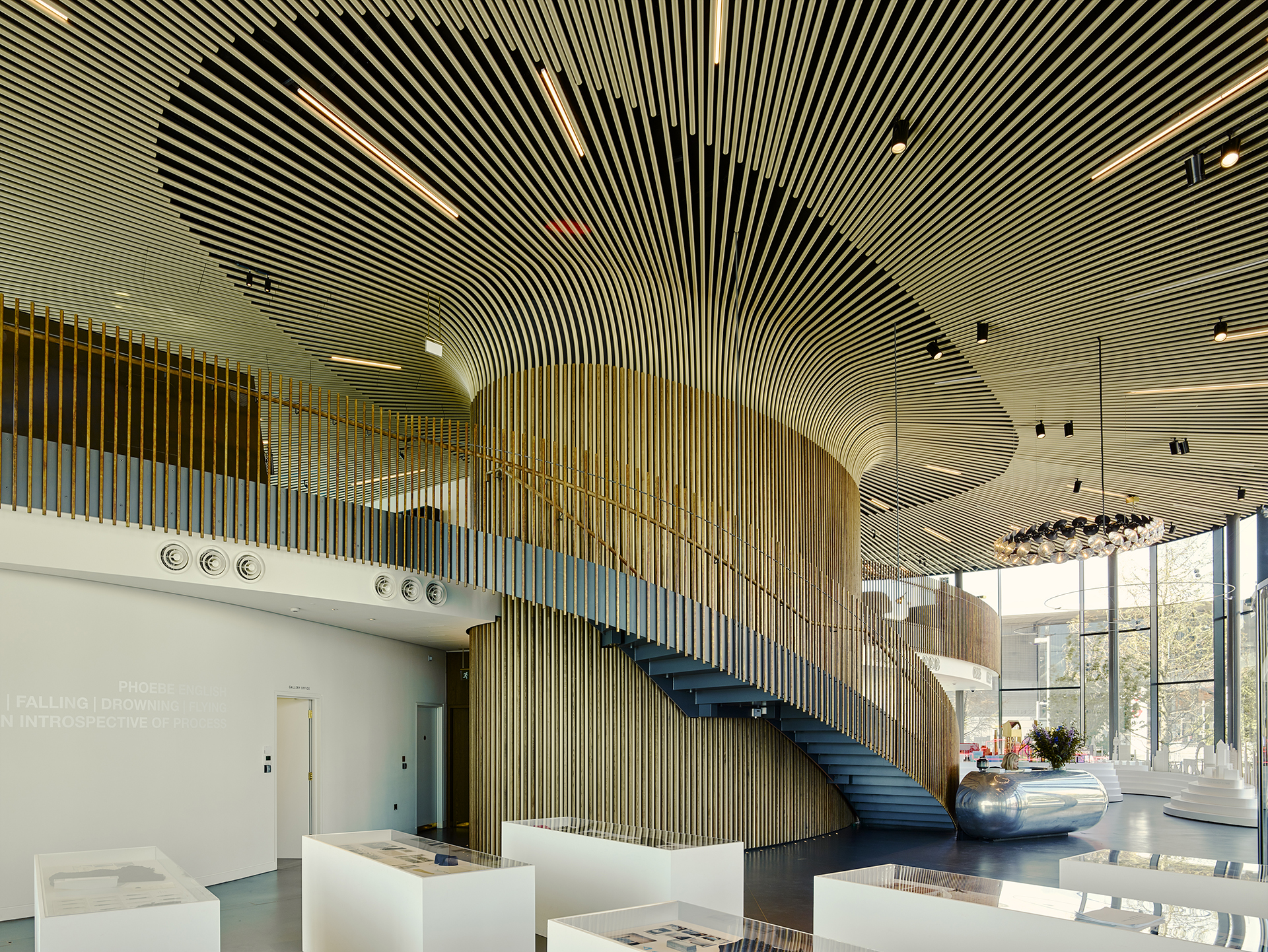 now gallery timber - Greenwich Gateway Pavilions by Marks Barfield Architects