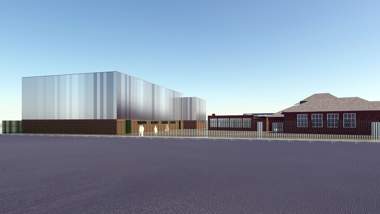 cladding diagram - Saltley Secondary School by marks Barfield Architects