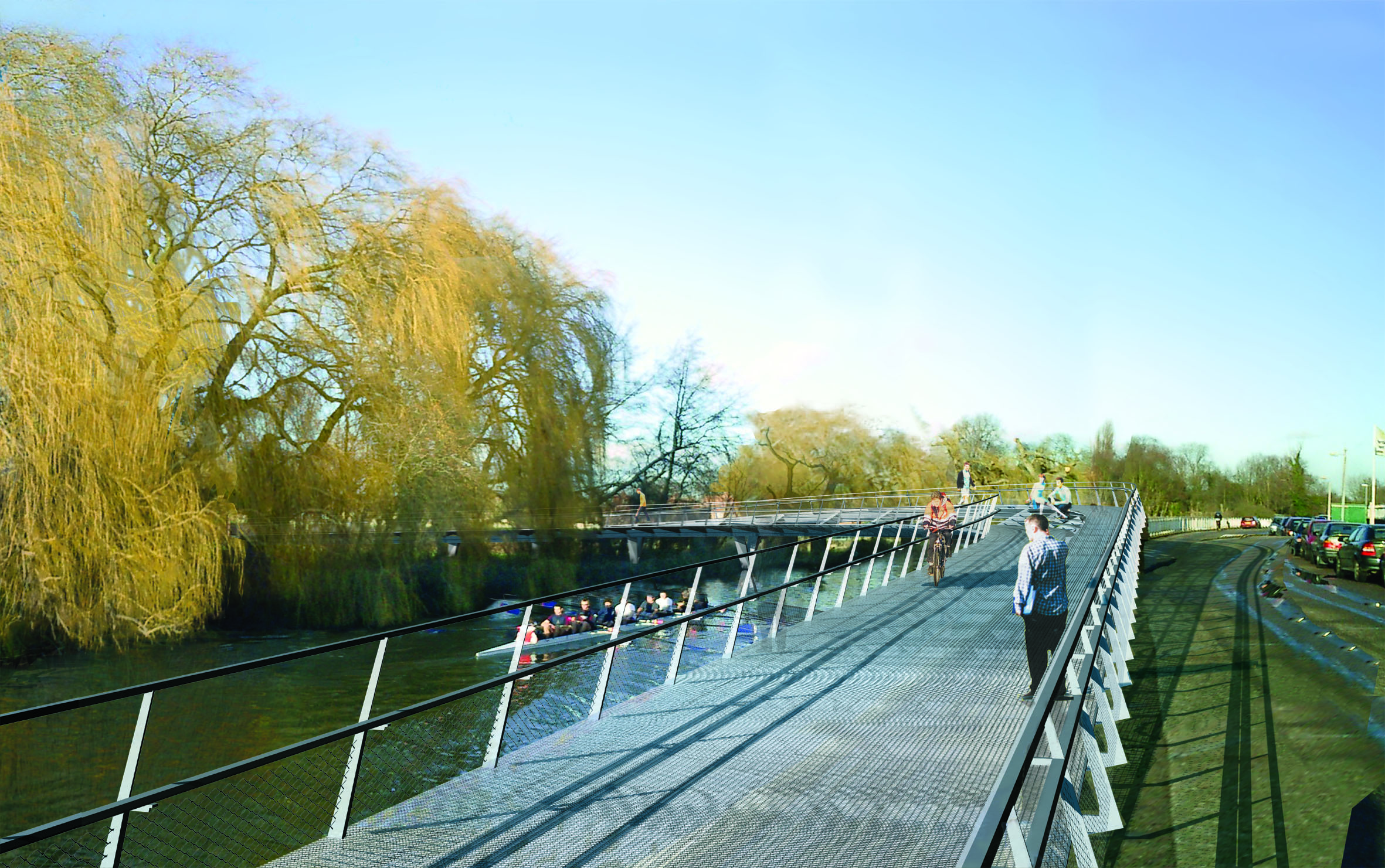 Cambridge Footbridge by Marks Barfield Architects