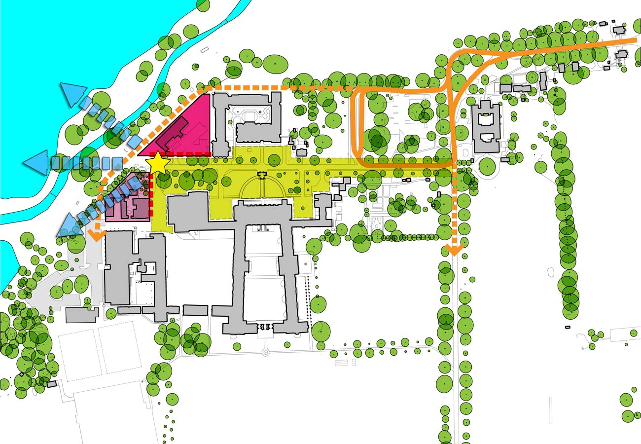 site plan - Merchant Taylors' School by Marks Barfield Architects