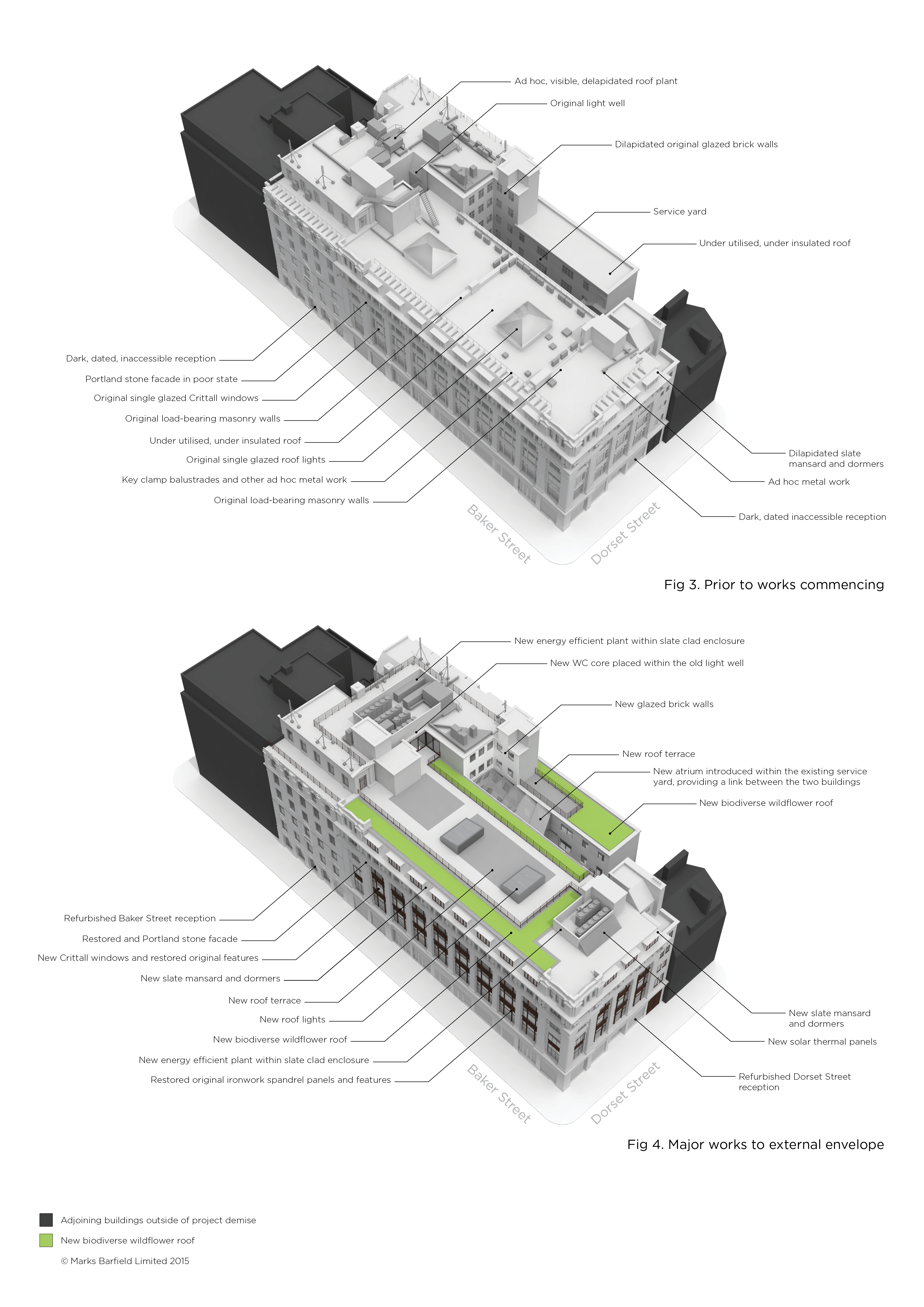project diagram - 82 Baker Street by Marks Barfield Architects