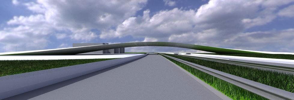 Basildon Bridge by Marks Barfield Architects