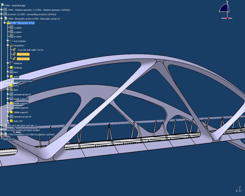 Catia Model - Springfield Bridge by Marks Barfield Architects