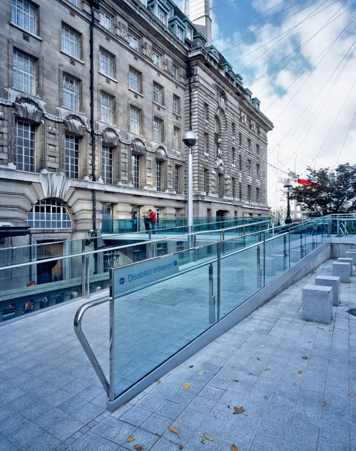 disabled ramp access - County Hall Bridge by marks Barfield Architects