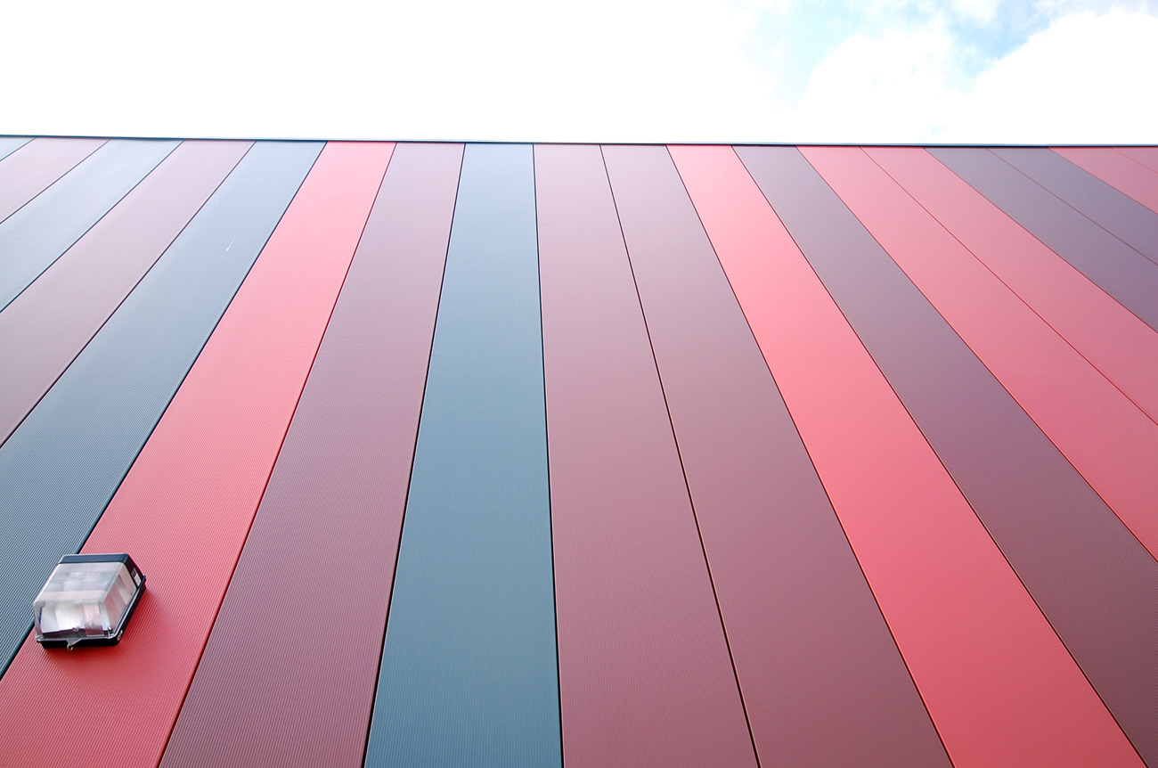 cladding Saltley Secondary School by marks Barfield Architects