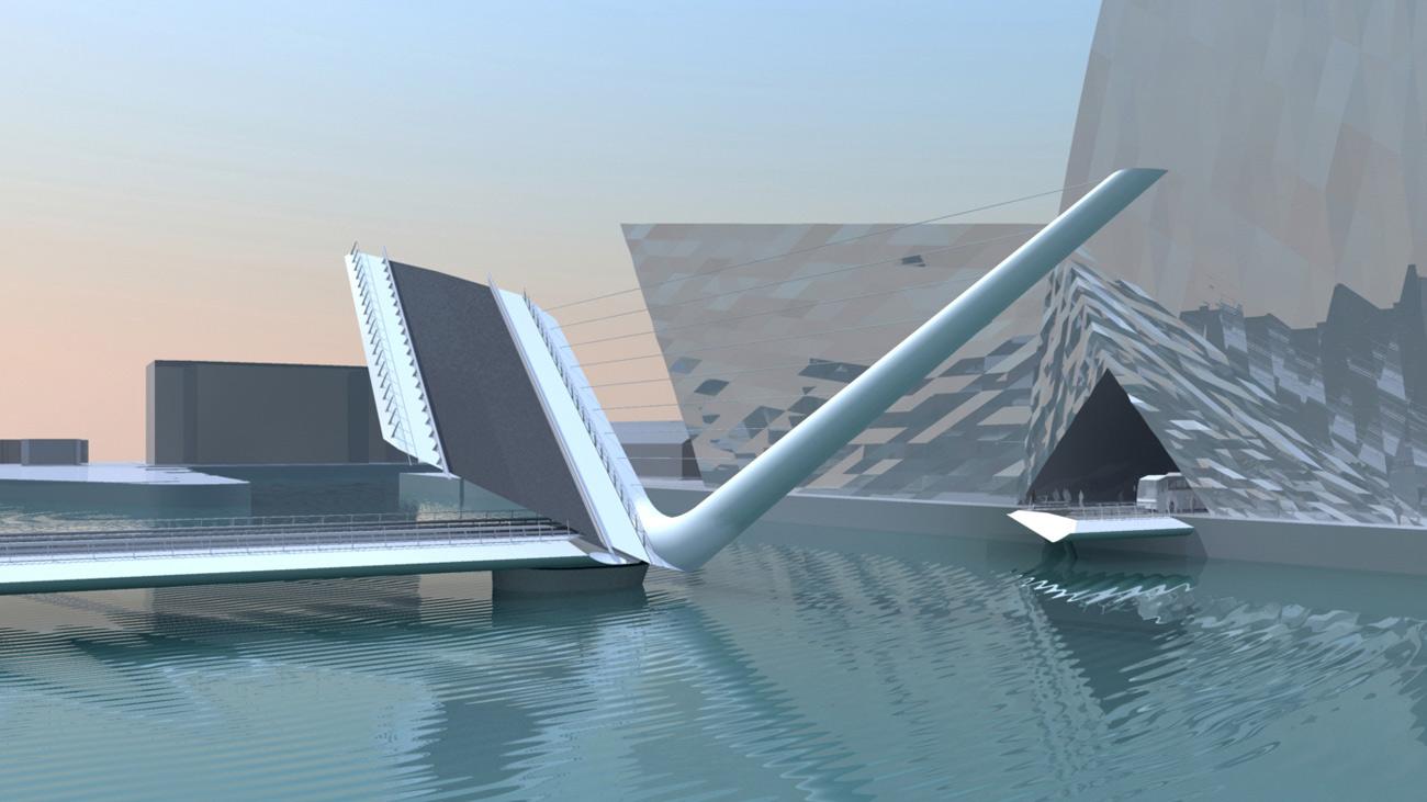 Dublin Bridge by Marks Barfield Architects