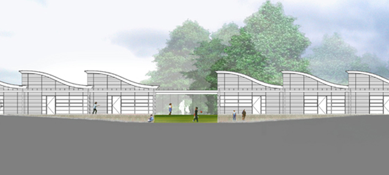 elevation - Exemplar Schools for the Future by Marks Barfield Architects